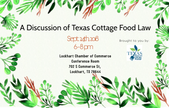 Texas Cottage Food Law