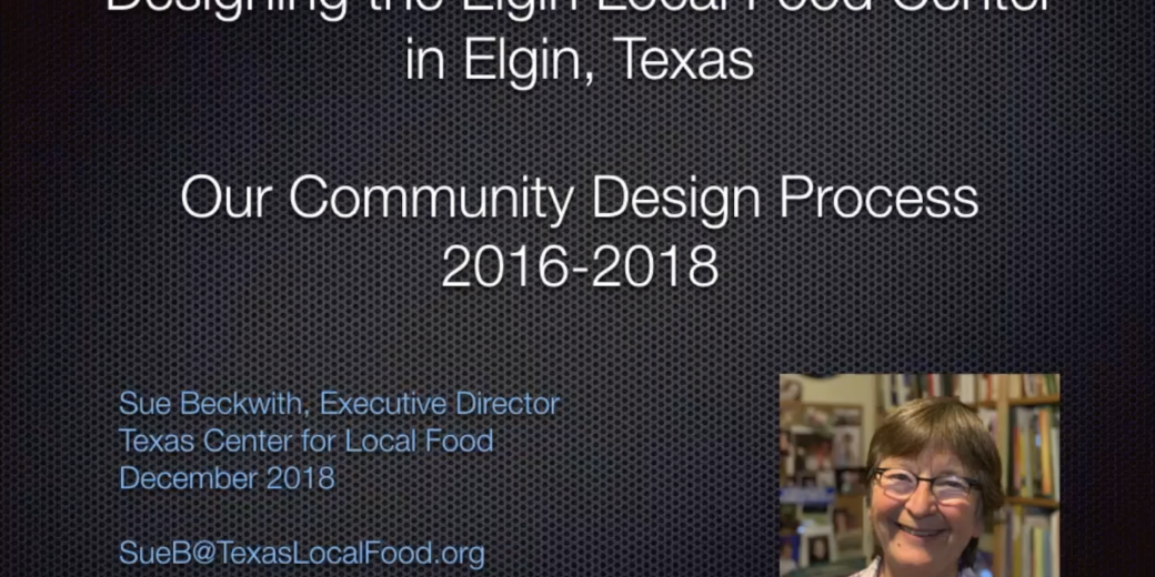 Designing the Elgin Local Food Center Video